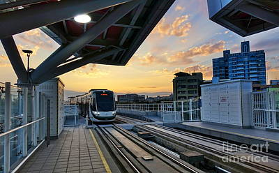 Photograph - New Light Rail System In Taiwan by Yali Shi