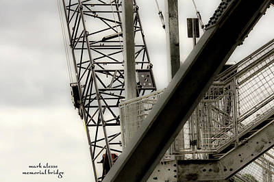 Photograph - new Memorial bridge by Mark Alesse