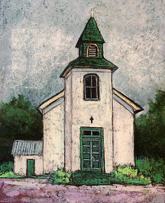 Wall Art - Pastel - New Mexico Church by Candy Mayer