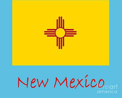 Claude Monet - New Mexico Flag by Frederick Holiday