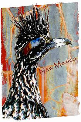 Roadrunner Mixed Media - New Mexico Roadrunner by Barbara Chichester