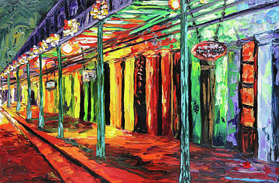 New Orleans Oil Painting - New Orleans At Night Painting - All Jazzed Up by Beata Sasik