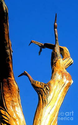 New Orleans Bird Tree Sculpture In Louisiana Art Print by Michael Hoard