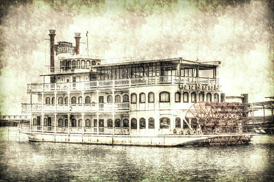 Photograph - New Orleans Paddle Steamer Vintage by David Pyatt