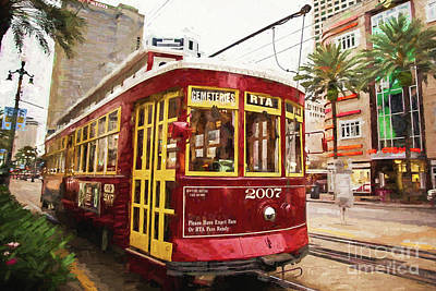 New Orleans Streetcar Art Print by Scott Pellegrin