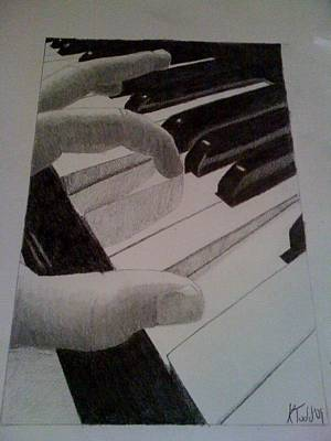 Steinway Grand Piano Wall Art - Drawing - New Piano by Kevin Todd
