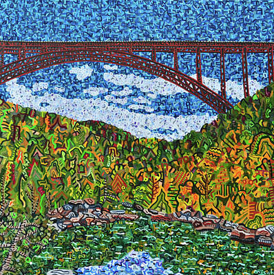 Painting - New River Gorge by Micah Mullen
