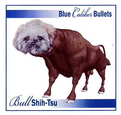 Shih Tsu Digital Art - Bull Shih-tsu by John Gamble