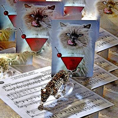 Martini Royalty-Free and Rights-Managed Images - Happy Birthday by Phyllis Kaltenbach