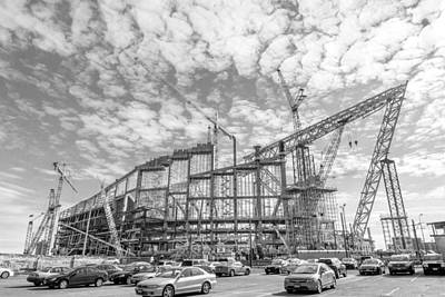 U S Bank Stadium Under Construction Art Print by Jim Hughes