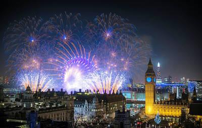 Photograph - New Year Fireworks by Stewart Marsden