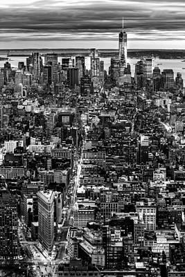 Photograph - New York Aerial Cityscape by Mihai Andritoiu