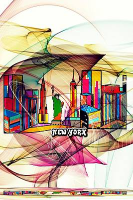 Digital Art - New York By Nico Bielow by Nico Bielow