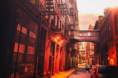 New York City Alley Art Print by Vivienne Gucwa