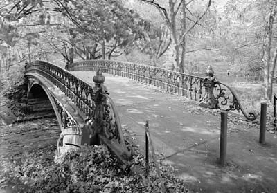 New York City, Central Park, Bridge Art Print by Everett