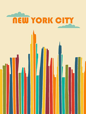 Nyc Digital Art - New York City by Nicole Wilson