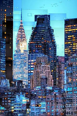 Digital Art - New York City by Rafael Salazar