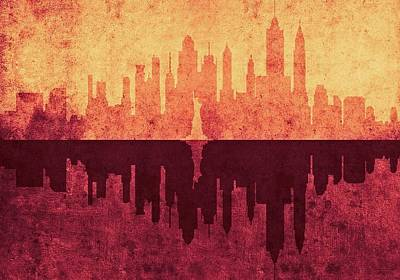 Digital Art - New York City Skyline by Anton Kalinichev