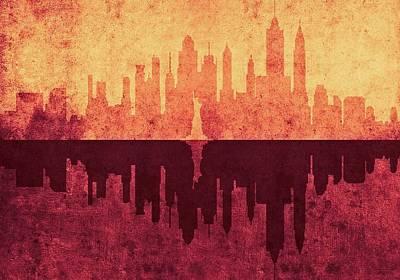 Digital Art - New York City Skyline by Anton Kalinichev