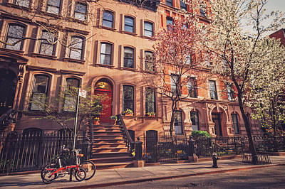 New York City - Springtime - West Village Print by Vivienne Gucwa