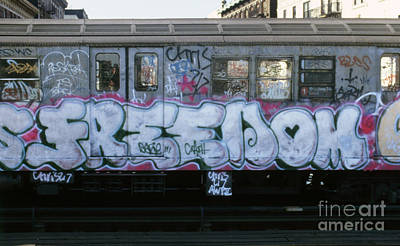 New York City Subway Graffiti Art Print by The Harrington Collection