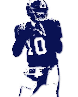 New York Giants Eli Manning Art Print by Joe Hamilton