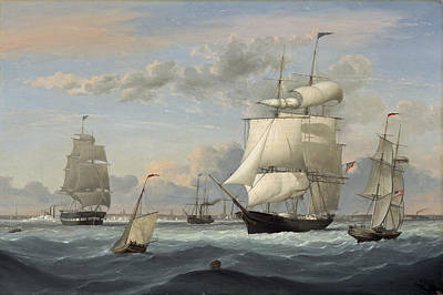 Painting - New York Harbor by Fitz Henry Lane