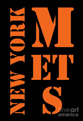 New York Mets Stadium Digital Art - New York Mets Typography by Pablo Franchi