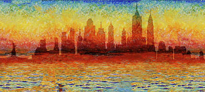 Photograph - New York Skyline 7 by Andrew Fare