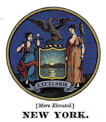 Photograph - New York State Seal by Granger