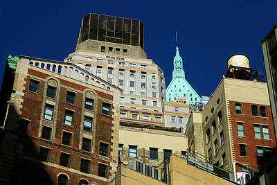Photograph - New York Tops - Wall Street Skyline by Art America Gallery Peter Potter