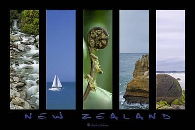 New Zealand Art Print by Andrea Cadwallader
