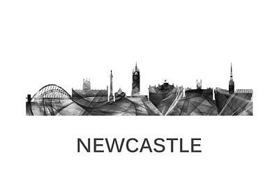Digital Art - Newcastle England Skyline by Marlene Watson