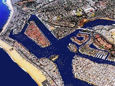 Digital Art - Newport Beach by Ronald Irwin
