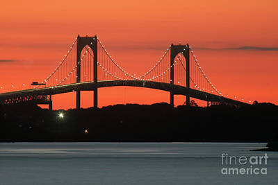 Thomas Kinkade Royalty Free Images - Newport Bridge Royalty-Free Image by Jim Beckwith