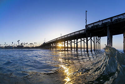 So. Cal Wall Art - Photograph - Newport Pier Curl by Sean Davey