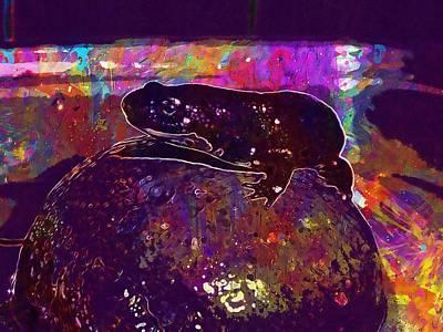 Newts Digital Art - Newt Fire Bellied Newt Amphibian  by PixBreak Art