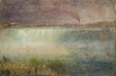 Rapids Painting - Niagara by George Inness
