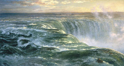 Waterfalls Painting - Niagara by Louis Remy Mignot