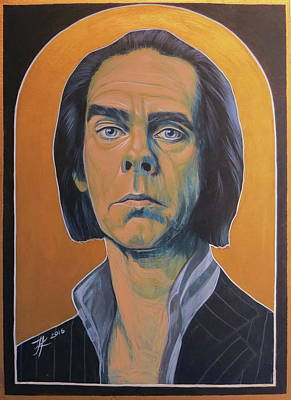 Nick Cave Art Print by Jovana Kolic