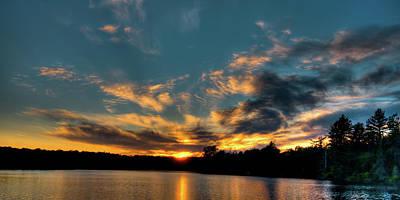 Photograph - Nicks Lake Sunset by David Patterson