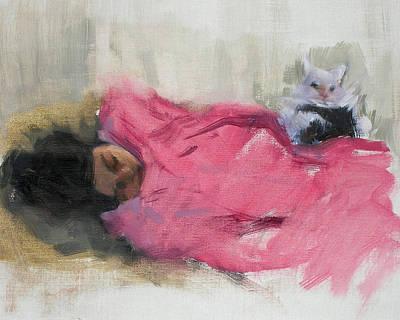Nicole And Josie Art Print by Merle Keller