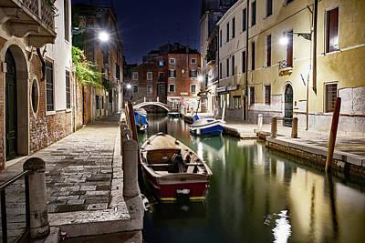 Night Canal Art Print