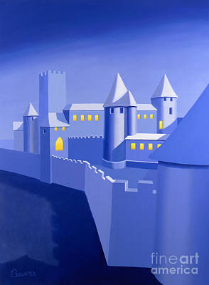 Painting - Night Castle by John Bowers