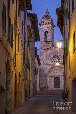 Tuscan Dusk Photograph - Night Church by Brian Jannsen