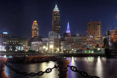 Inner Harbor Wall Art - Photograph - Night Falls On The North Coast by At Lands End Photography