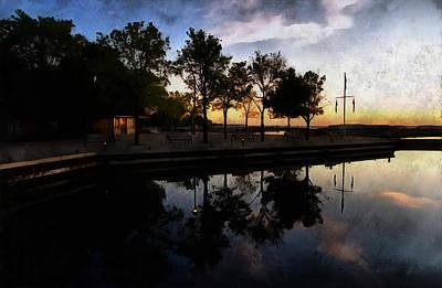 Digital Art - Night Harbour by JGracey Stinson