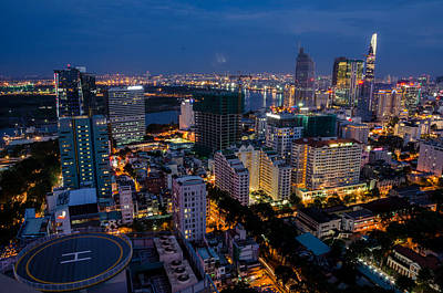 Photograph - Night Ho Chi Minh City by Tran Minh Quan