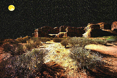 Photograph - Night In The Arches by Lawrence Christopher