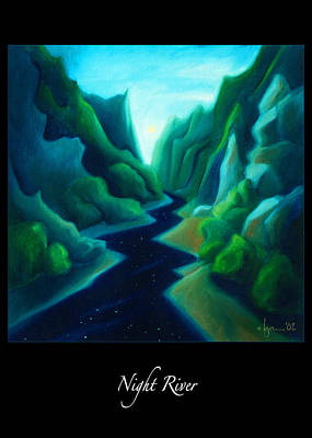 Painting - Night River by Angela Treat Lyon
